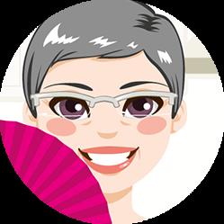disegno di donna in menopausa sorridente
