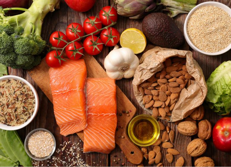 Alimenti sani e freschi per il buonumore