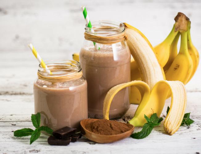 Ricetta del buonumore per smoothie cioccolato e banana